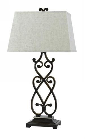WROUGHT IRON SCROLL TABLE LAMP | Decorative Lamps ...