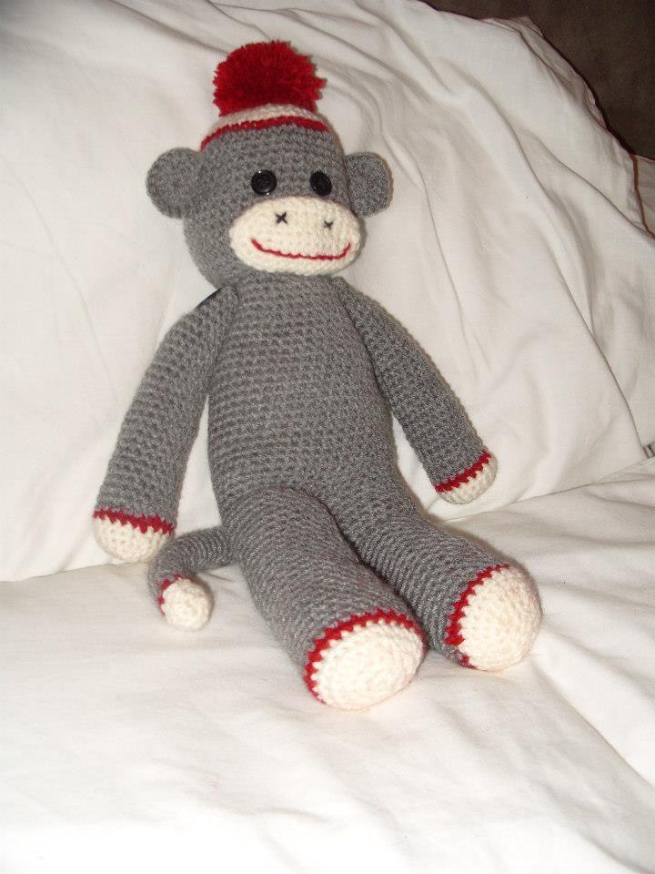 Crochet sock monkey :)