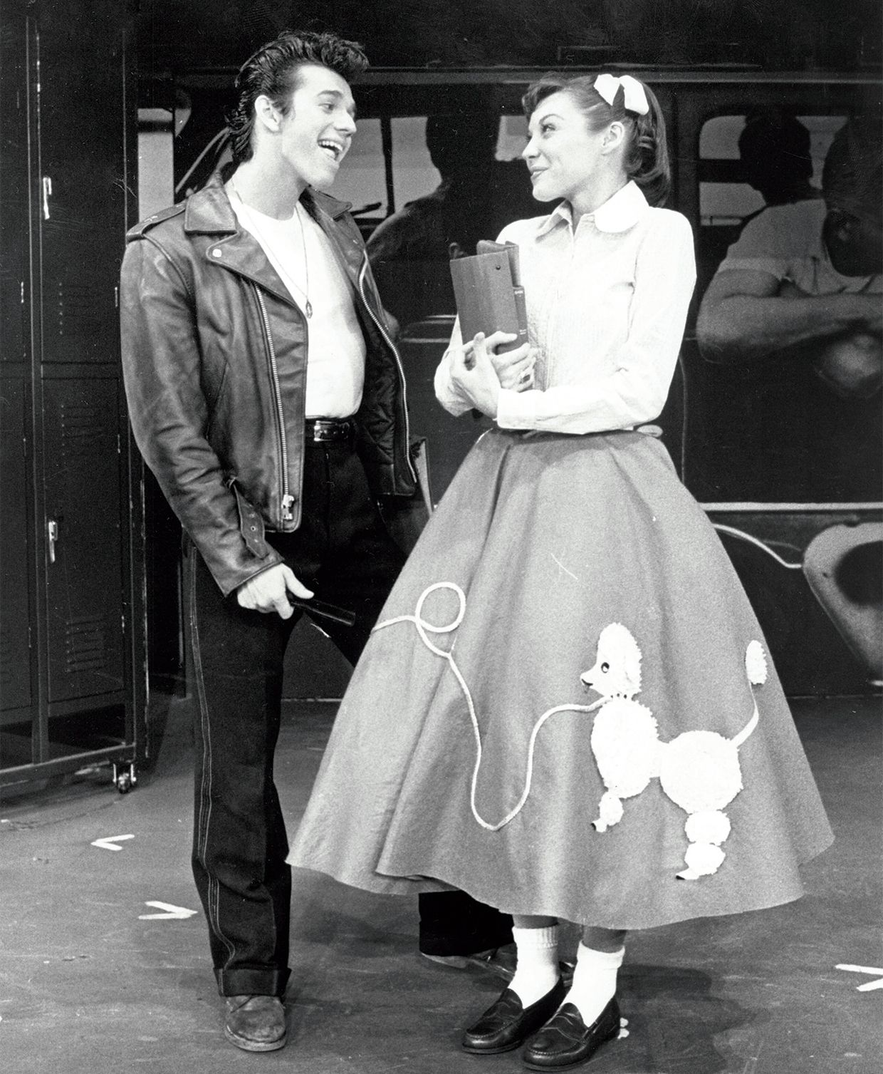 Adrian Zmed andAndrea Walters in a 1972 Broadway production ofGrease.