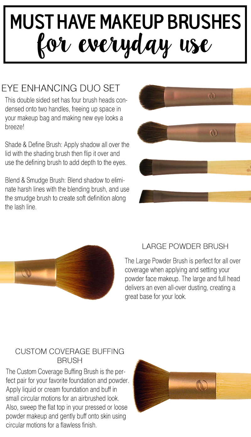 Must Have Makeup Brushes for Everyday Looks! ad Makeup