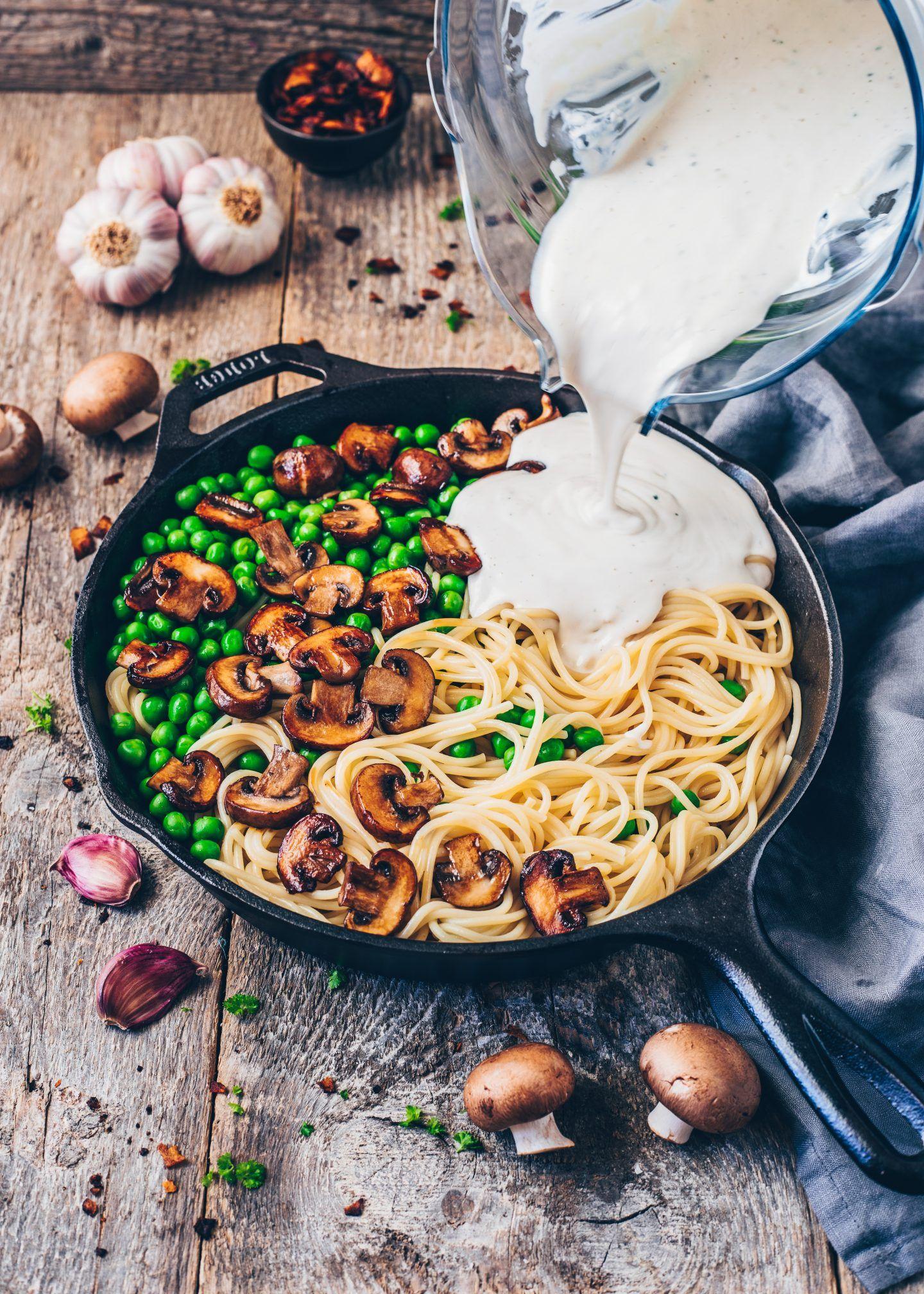 Vegan Carbonara With Coconut Bacon