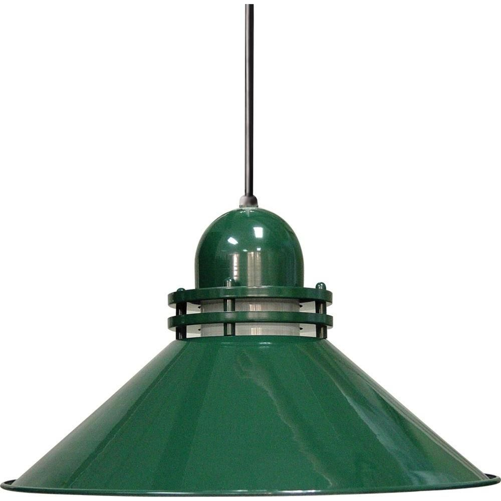 Volume Lighting 1-Light Dark Green Interior Pendant