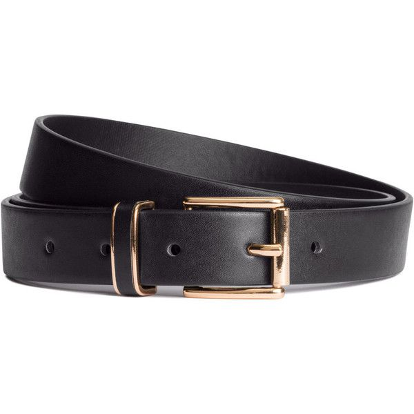 H&M Belt (€4,58) ❤ liked on Polyvore featuring accessories, belts, black and h&m belts