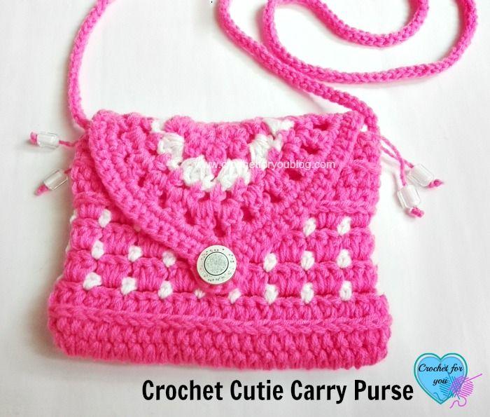 Free Crochet Cutie Carry Purse Pattern | Monederos, Ganchillo y Patrones
