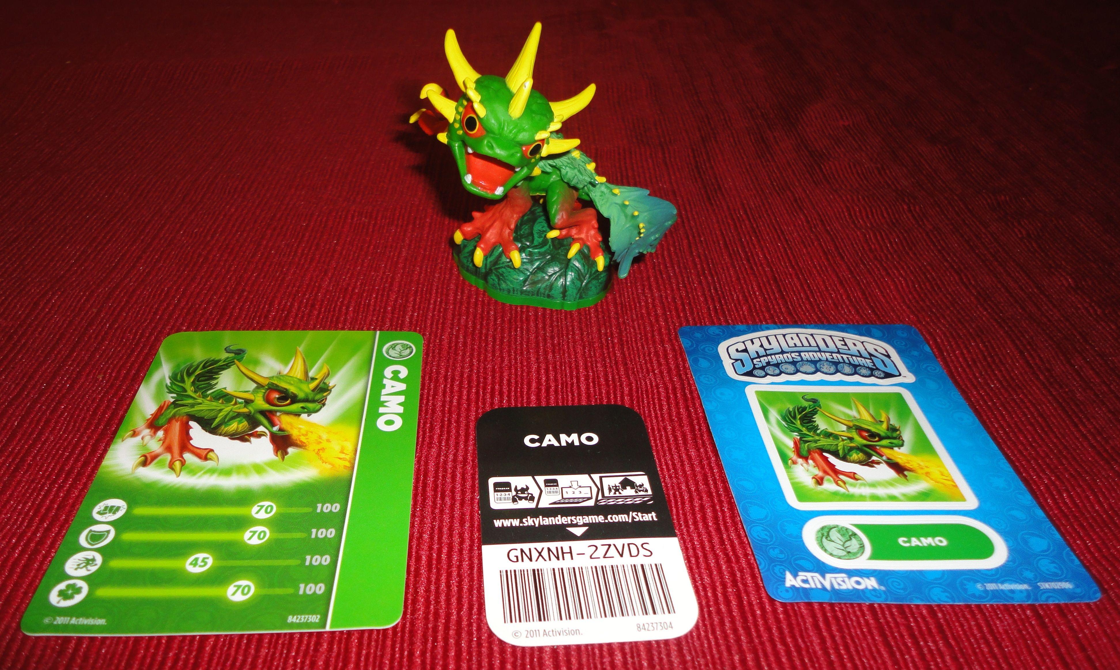 Skylanders Spyro's Adventure Camo W/ Trading Card, Code ...