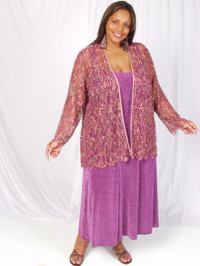 1cc03c316cc Plus Size Special Occasion Jacket Pink Sequins Lace 22/24: Exquisite sequin  and bugle