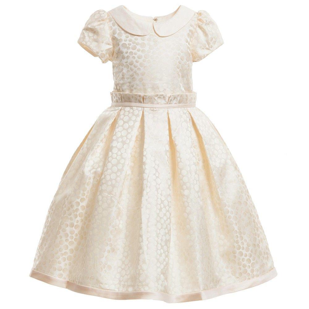 Cream gold spotted satin dress pinterest satin dresses