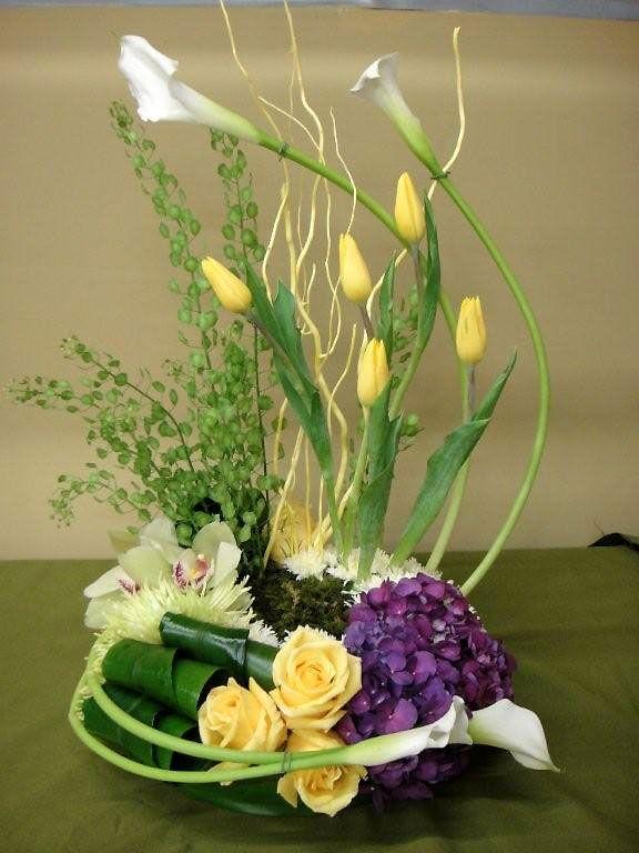 Flower arrangements calla lilies floral