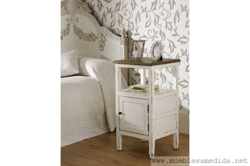 mesilla blanca provenzal-muebles a medida   muebles madera   armarios a medida -