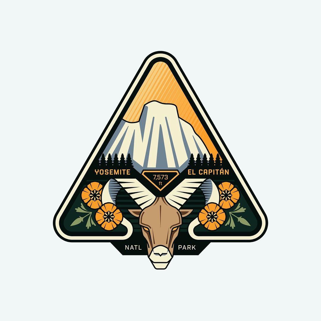 outdoor badge challenge Goat logo, Coin design, Badge