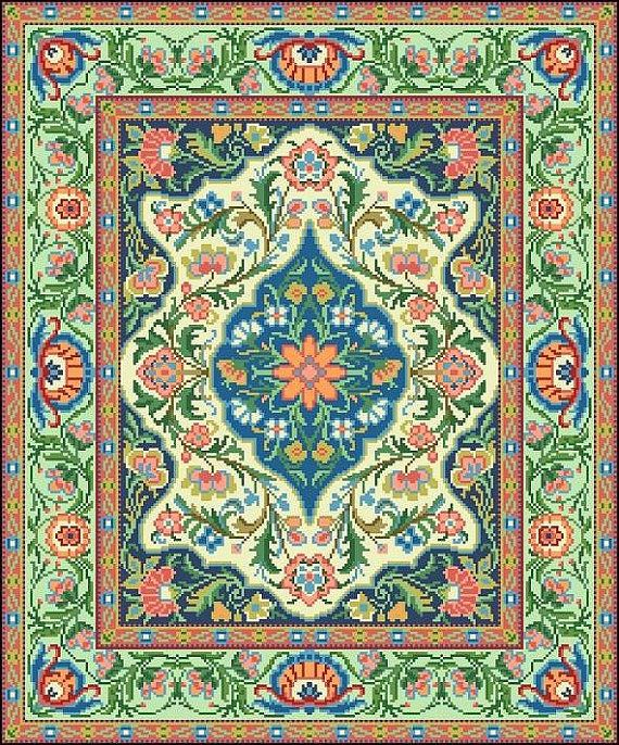 For Sale Is Oriental Vintage Floral Rug 2 Tapestry Adaptation Counted Cross Stitch Pat Vintage Floral Rugs Pinterest Cross Stitch Counted Cross Stitch Patterns