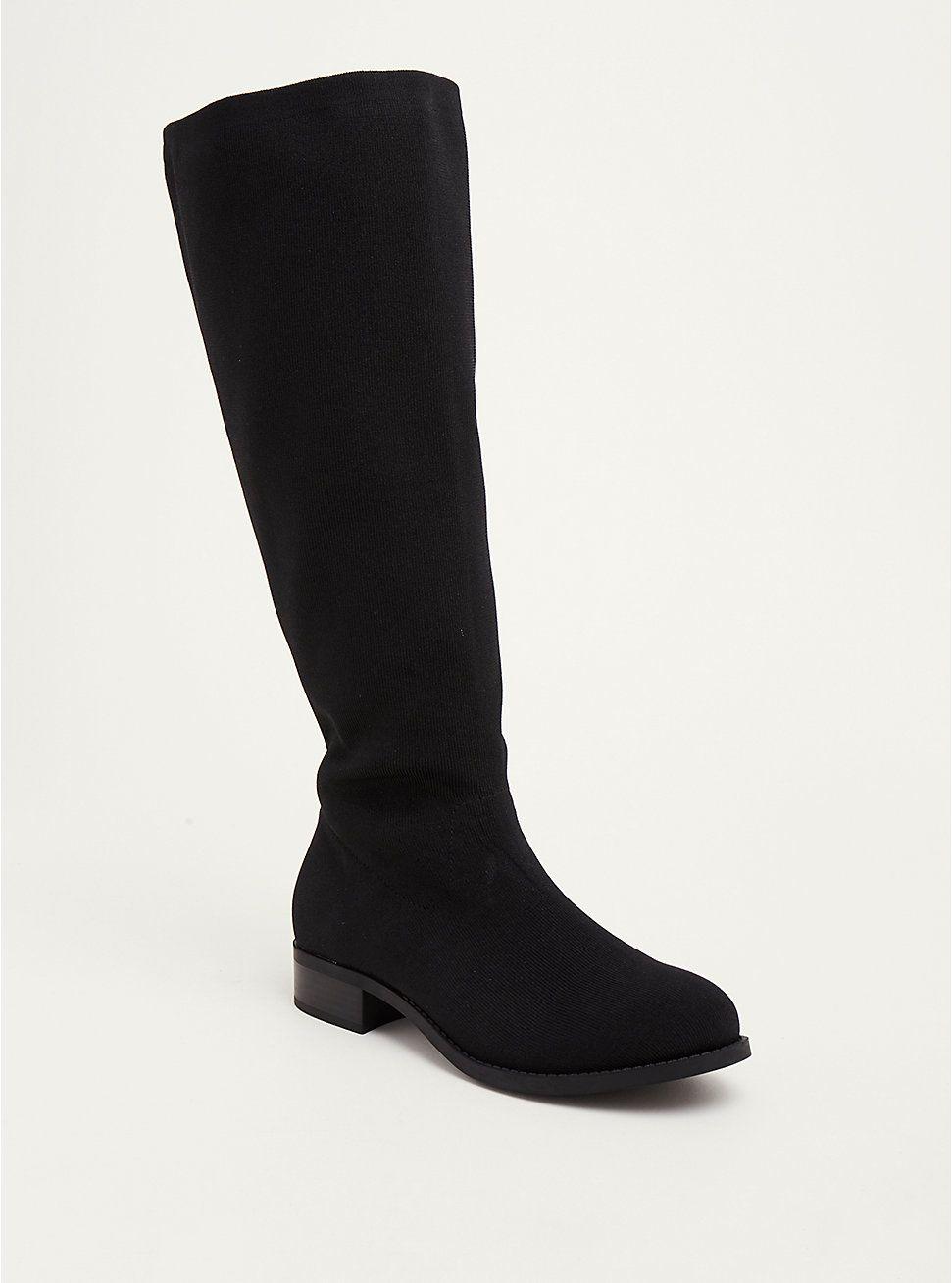 f2c5a277495 Black Elastic Knee Boot (Wide Width   Wide Calf)