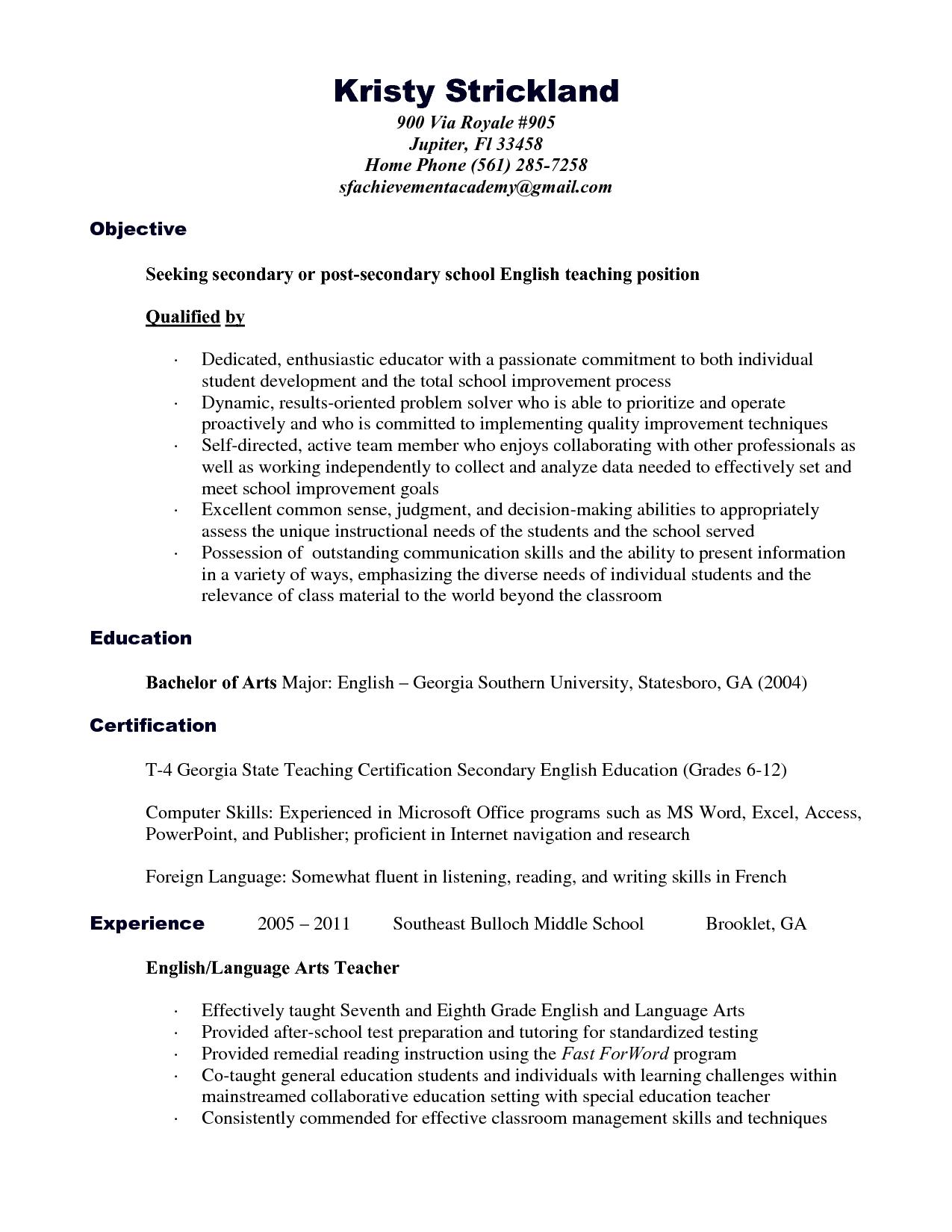 cheerleading coach resume example