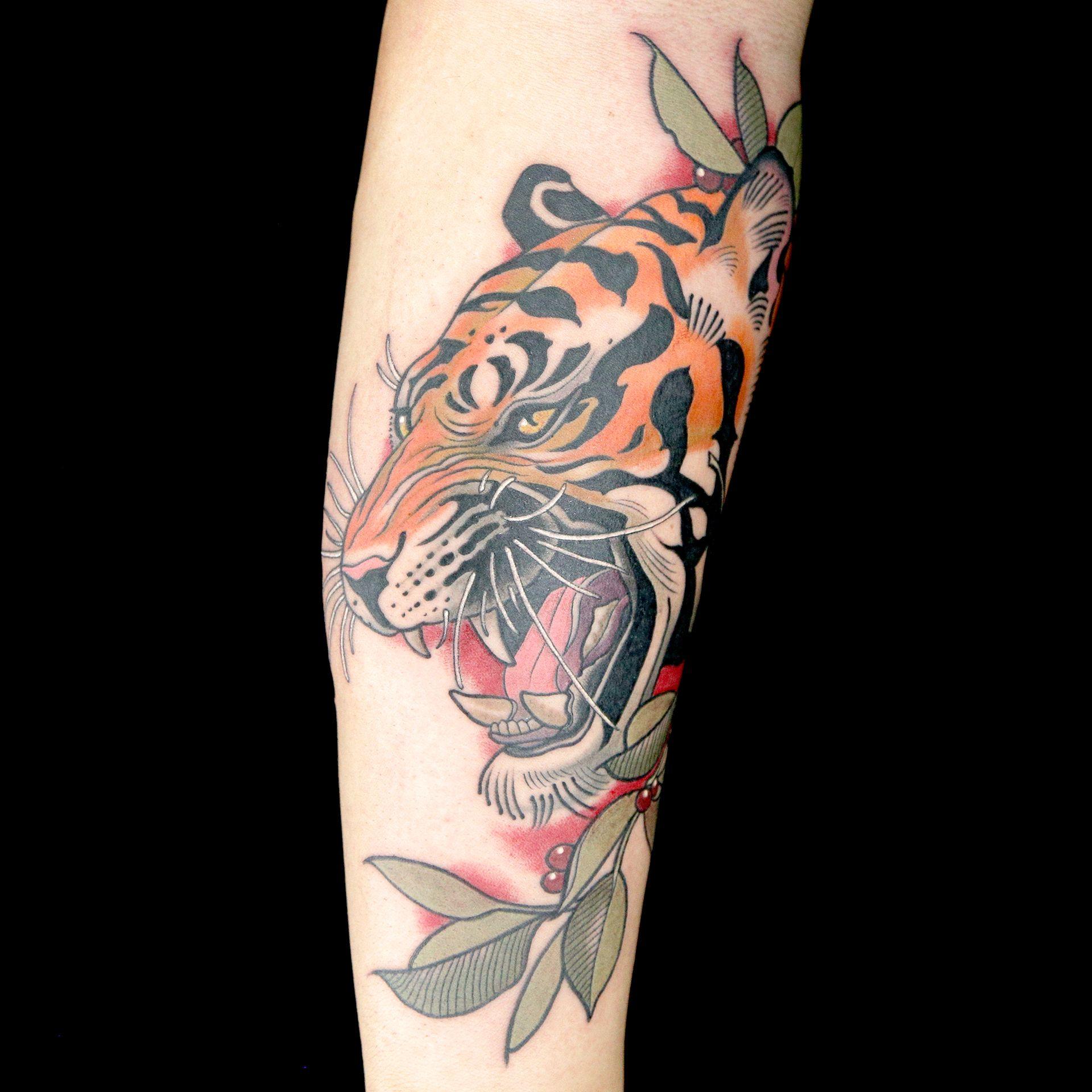 Tiger Tattoo by Old Town Ink (Bubba Irwin & DJ Tambe