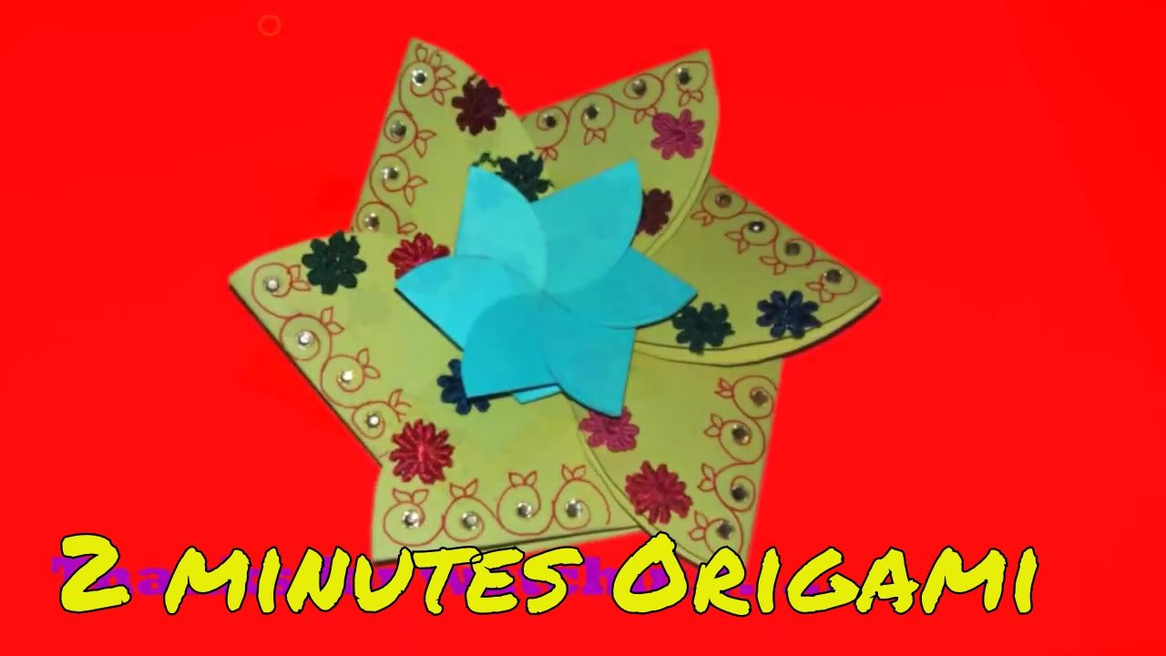 💌💌make an amazing paper flower card  paper flower card