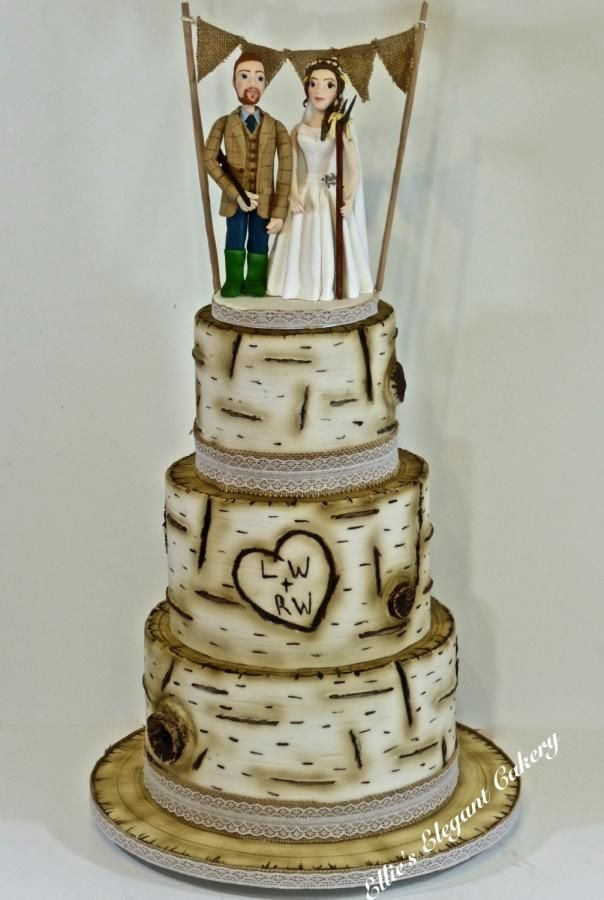 Birch Tree Wedding Cake By Ellie S Elegant Cakery Http Cakesdecor