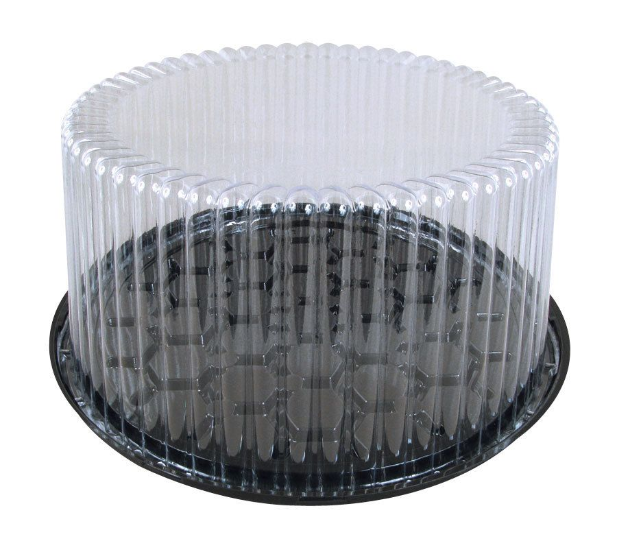 D W Fine Pack G27 1 9 2 3 Layer Cake Display Container With Clear Dome Lid 10 Pack Cake Display Container Cake Tray
