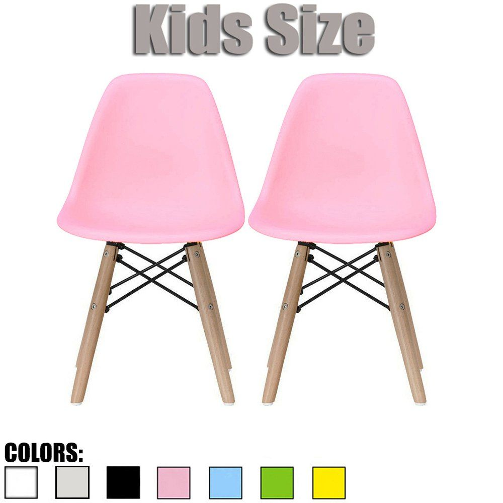 2xhome set of two 2 pink kids size eames side chairs eames