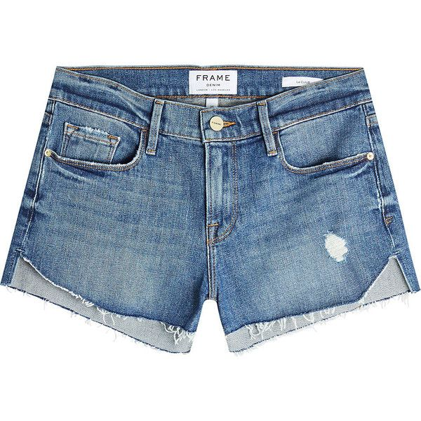 Frame Denim Le Cutoff Tulip Denim Shorts ($239) ❤ liked on ...