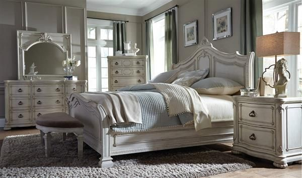 Davenport Traditional Weathered White Wood Master Bedroom Set Beautiful Bedroom Decor Master Bedroom Set Furniture