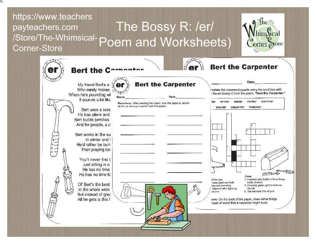 This Packet Contains Poems And Accompanying Worksheets