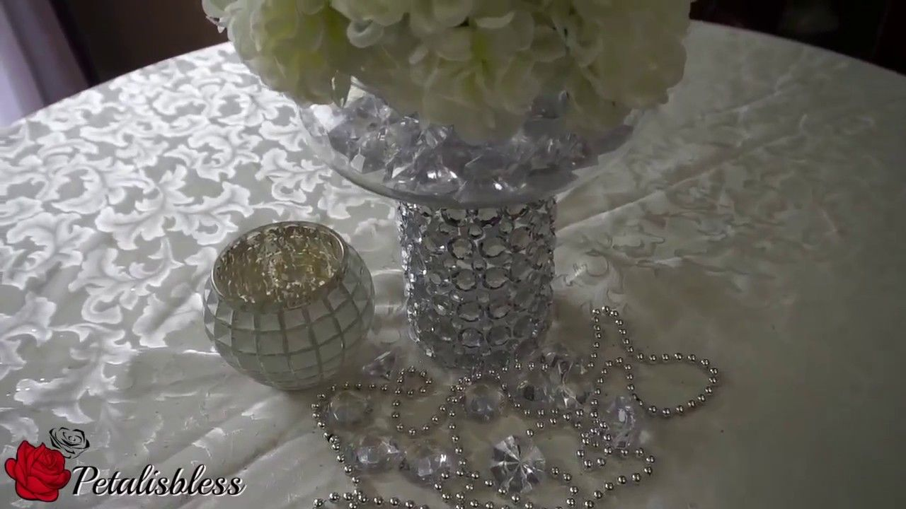 Diy dollar tree bling floral wedding centerpiece 2017 diy dollar tree bling floral wedding centerpiece 2017 petalisbless reviewsmspy