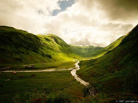 Here's a little valley off the beaten path. Hola Valley, Norway Source…