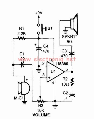 doorphone intercom by ic lm386