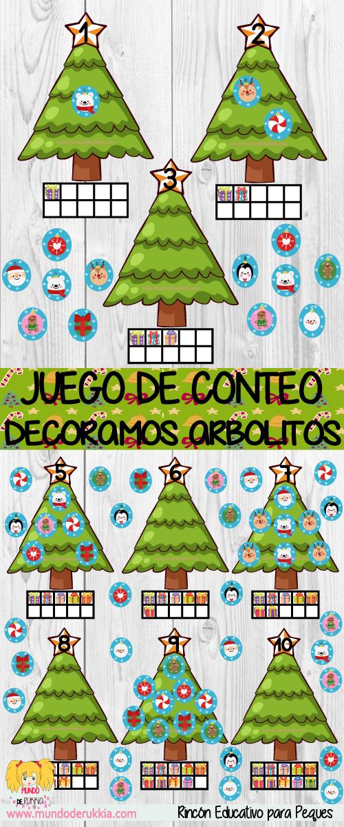 Juego De Conteo Decoramos Arboles De Navidad Blog Mundo De