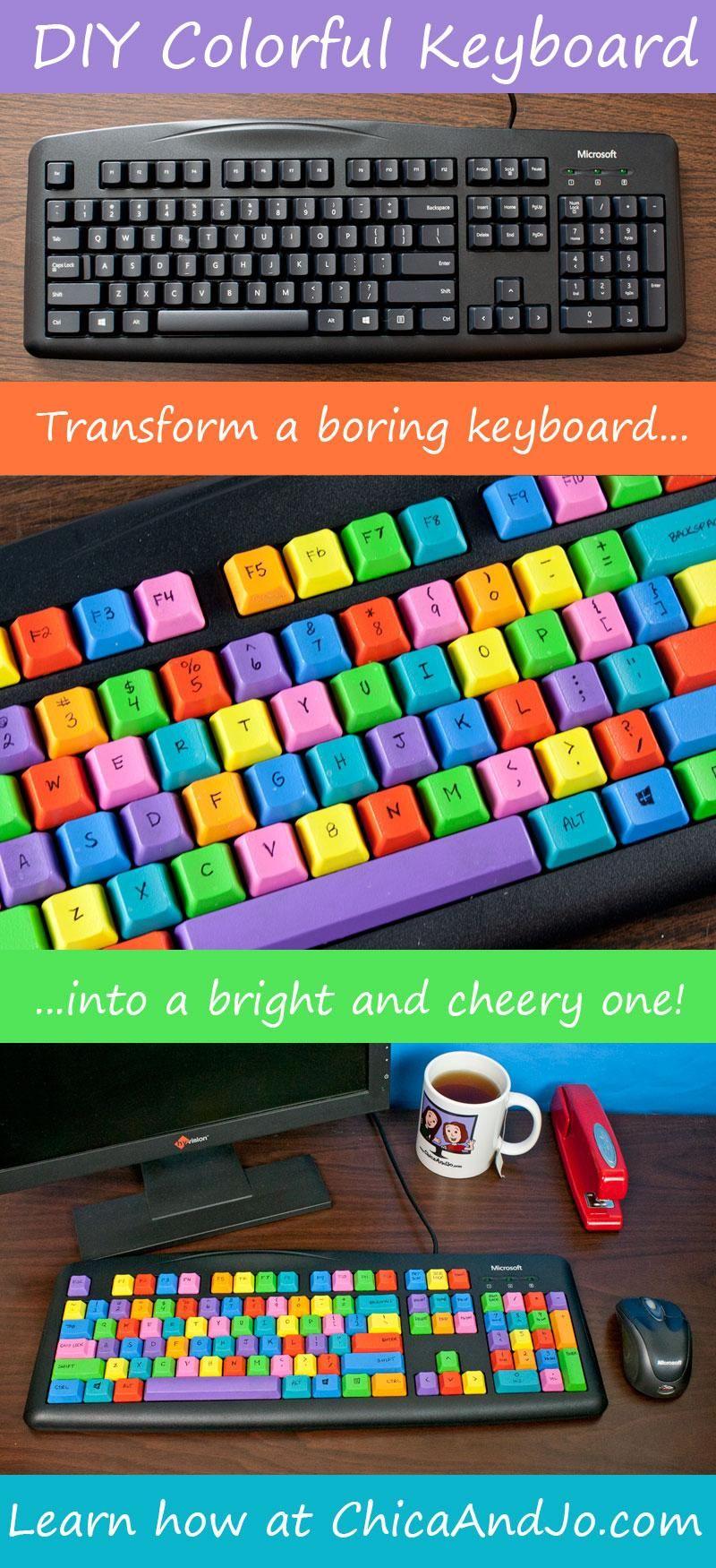 DIY colorful computer keyboard | Crafting & DIY | Computer diy