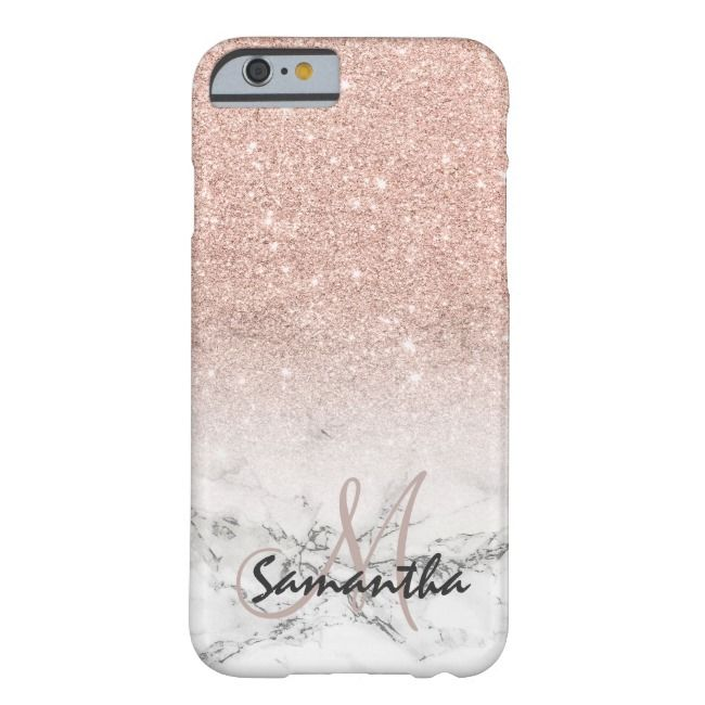 Custom faux rose pink glitter ombre white marble Case-Mate iPhone case | Zazzle.com