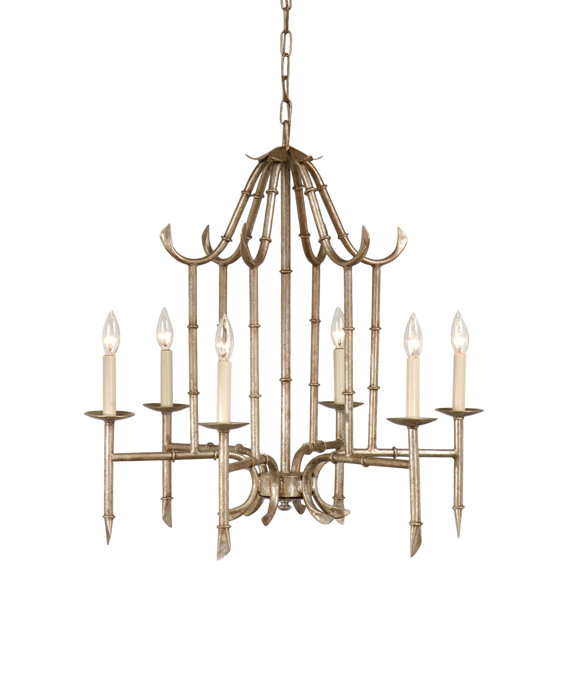 Wildwood bamboo chandelier antique silver antiques and silvers wildwood bamboo chandelier arubaitofo Images