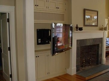 Photo of Flat Panel on Articulating Mount – Traditional – Family Room – Boston – by DC Ho…