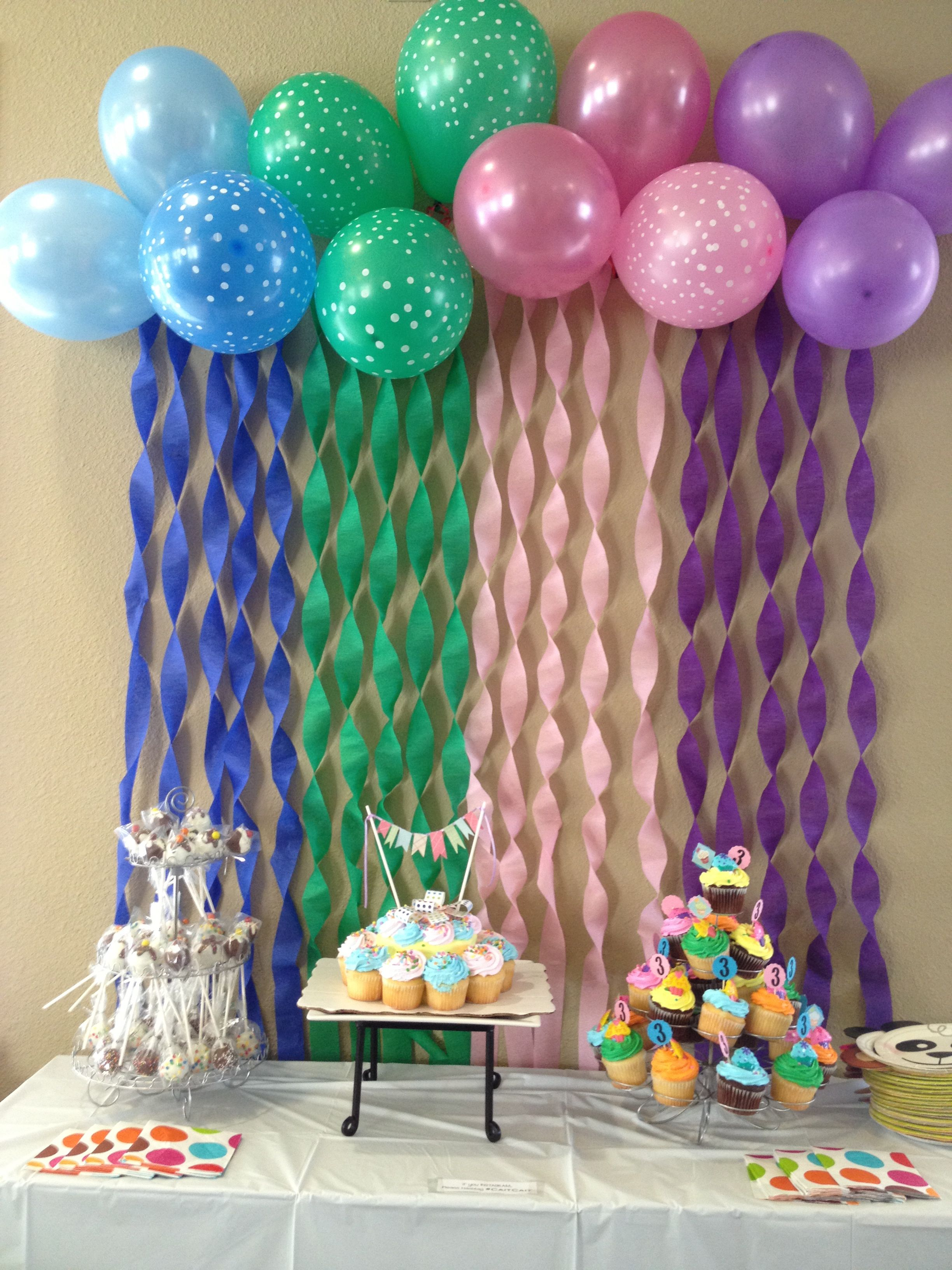 Ideas from other pinners ofcourse had to try it for my daughter   bday party also simple room decoration birthday ma homie rh pinterest