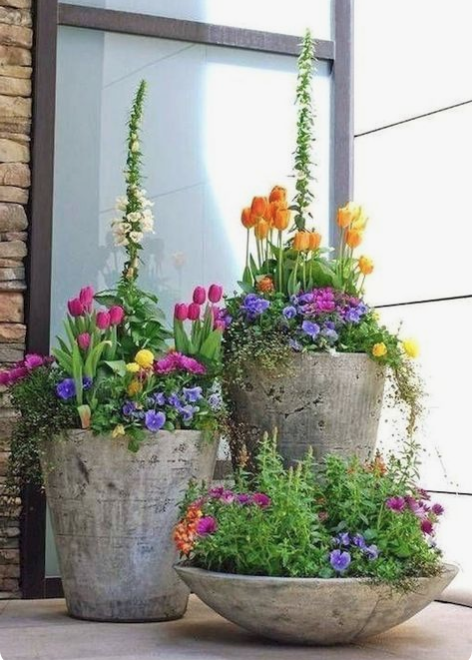 15 Unique and Beautiful Container Garden IdeasCement planters