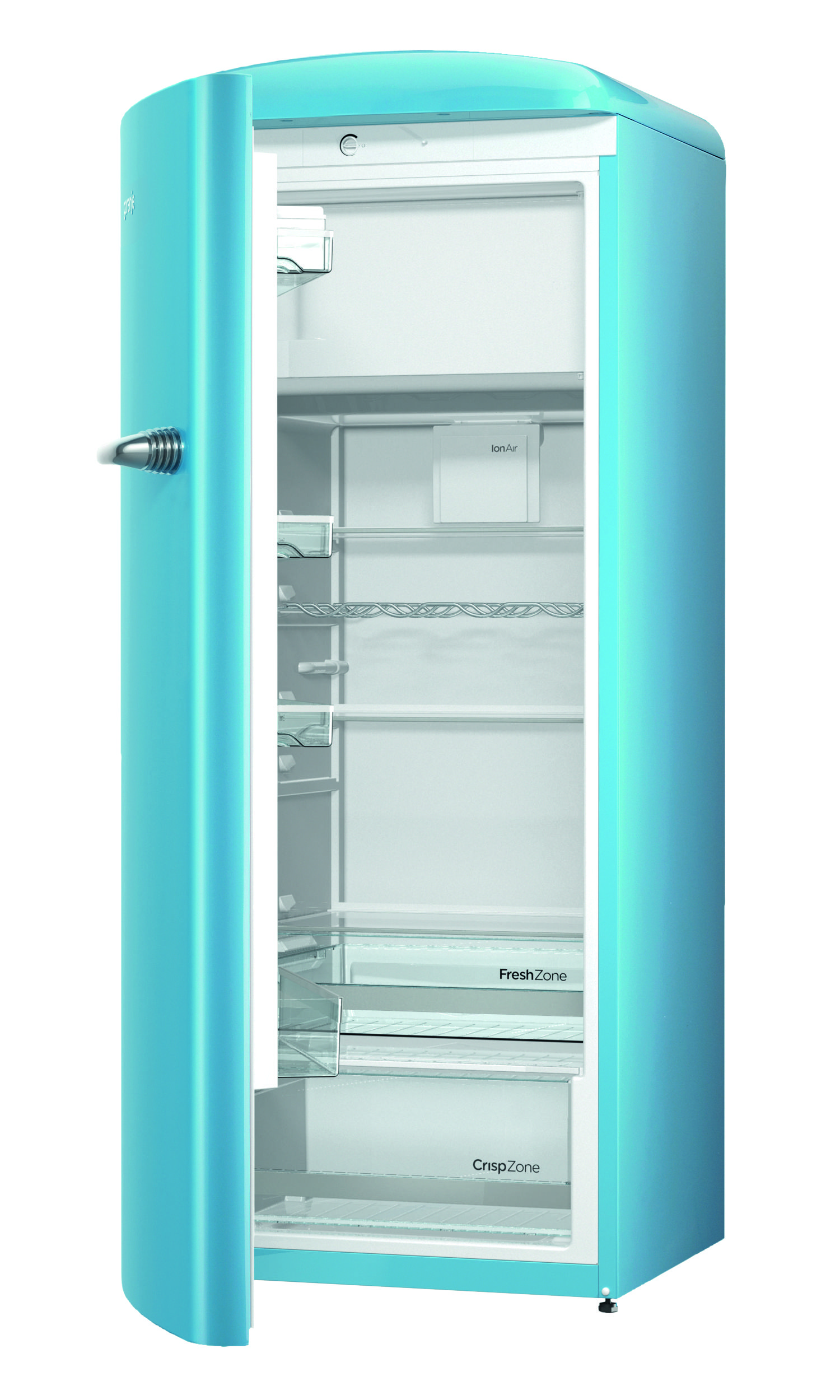 Gorenje Retro ORB153BL-L Refrigerator - Baby Blue - cut out open ...