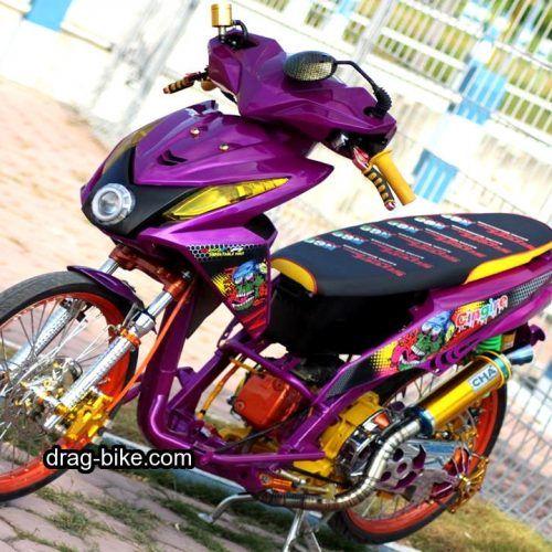35 Foto Gambar Modifikasi Nmax Hitam Merah Putih Dan Aksesoris Spion Variasi Jok Drag Bike Com Motor Drag Racing Gambar
