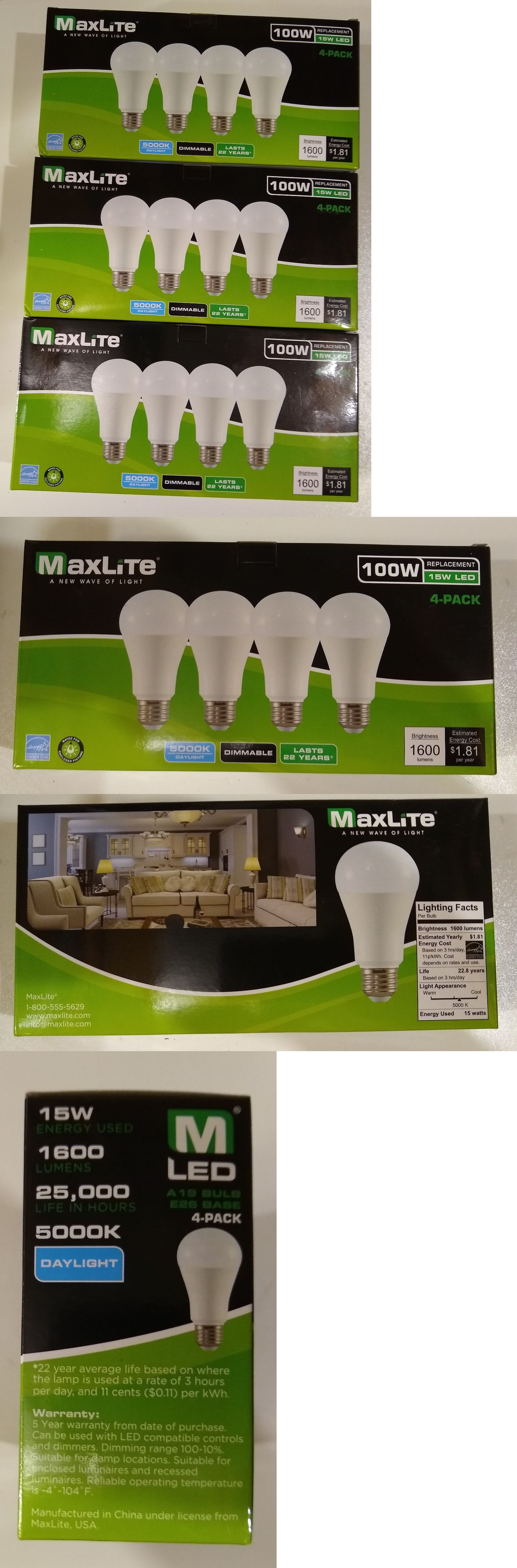 Light Bulbs 20706 12 Led Light Bulbs Maxlite 15w 100w Eq 1600 Lumens Daylight White A19 Dimmable Buy It Now Only 24 99 On E Bulbs For Sale Bulb Led