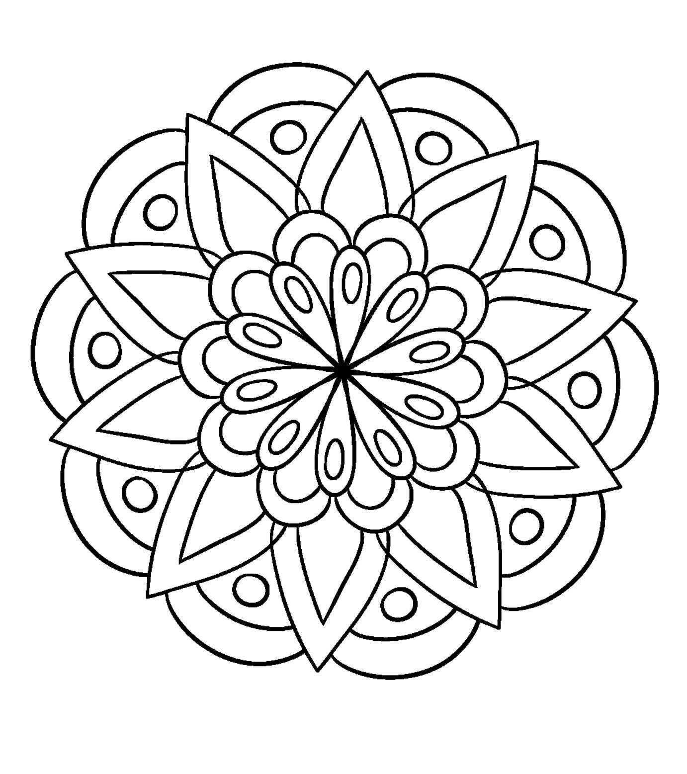 Flower Mandala Coloring Page Free Abstract Coloring Pages Mandala Coloring Pages Pattern Coloring Pages