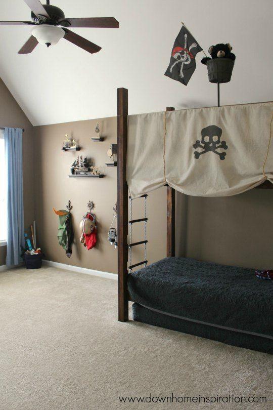 Decoración de habitaciones infantiles de PIRATAS | sedalinne