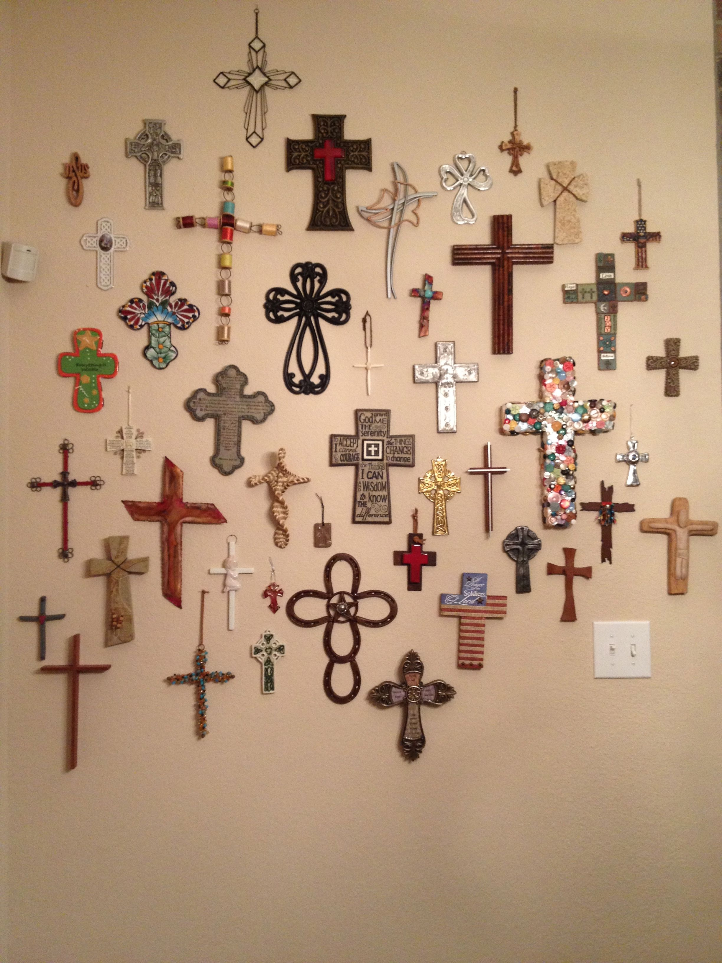 My Cross Wall Grandson Calls This A Collage