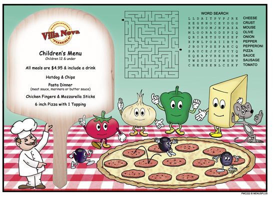 Children S Menus Kid S Activity Restaurant Placemats Kids Menu Kids Placemats