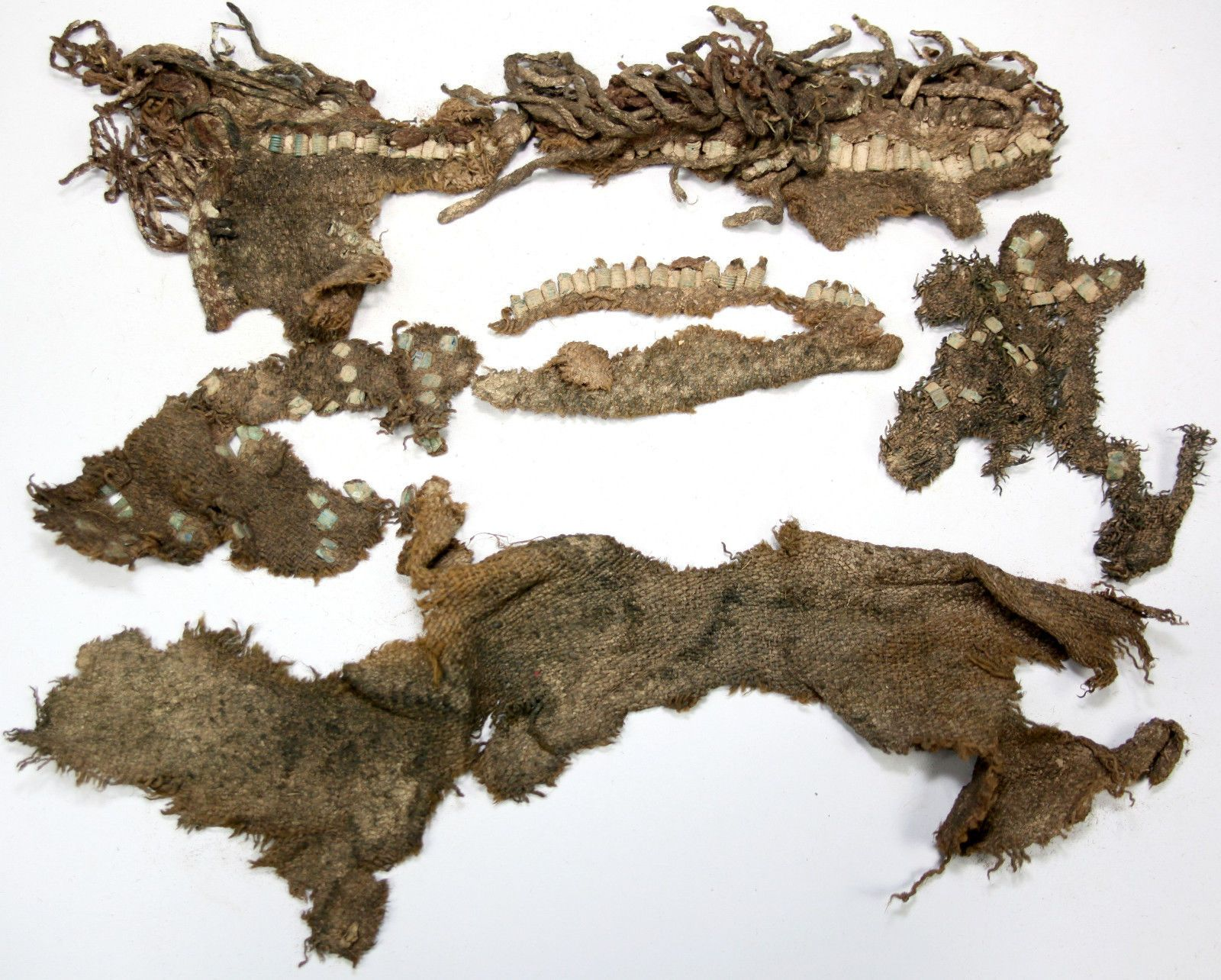 8-10th Century | Viking clothing pieces with metal ornaments (possibly pieces of a cape or an apron) | according to seller found in Staraja Ladoga (Russia) in 1984 | eBay http://www.ebay.de/itm/191507641689