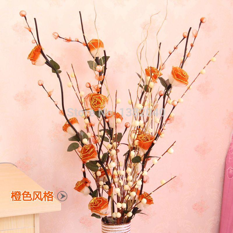 Jarrones altos con flores artificiales buscar con google - Plantas artificiales para decoracion ...