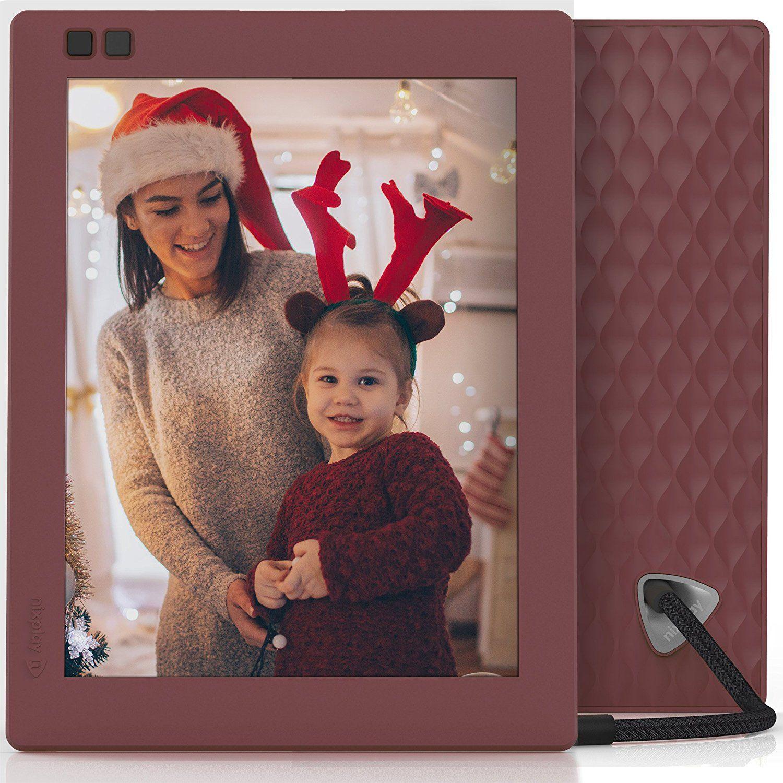 Amazoncom Nixplay Seed 8 Inch Wifi Digital Photo Frame Mulberry