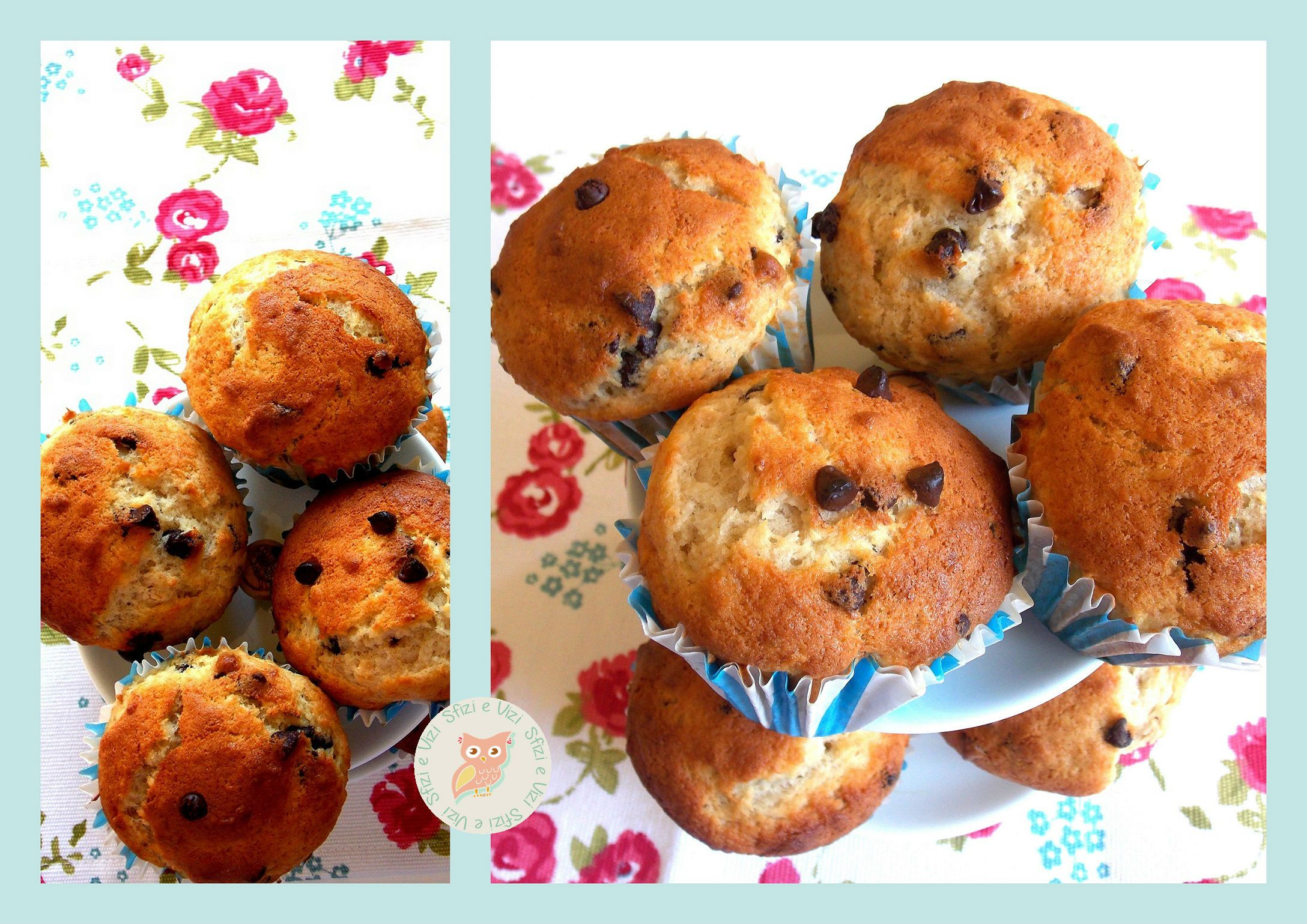 aprile#Vogliadi #picnic – light banana and chocolate muffins- muffin light banana e cioccolato