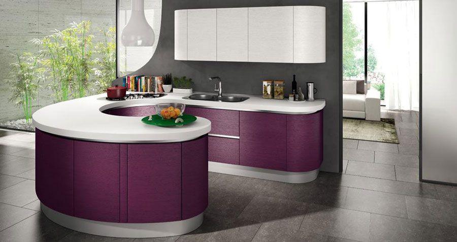 Cucine Moderne Con Isola Rotonda.50 Foto Di Cucine Moderne Con Penisola Cucine Moderne