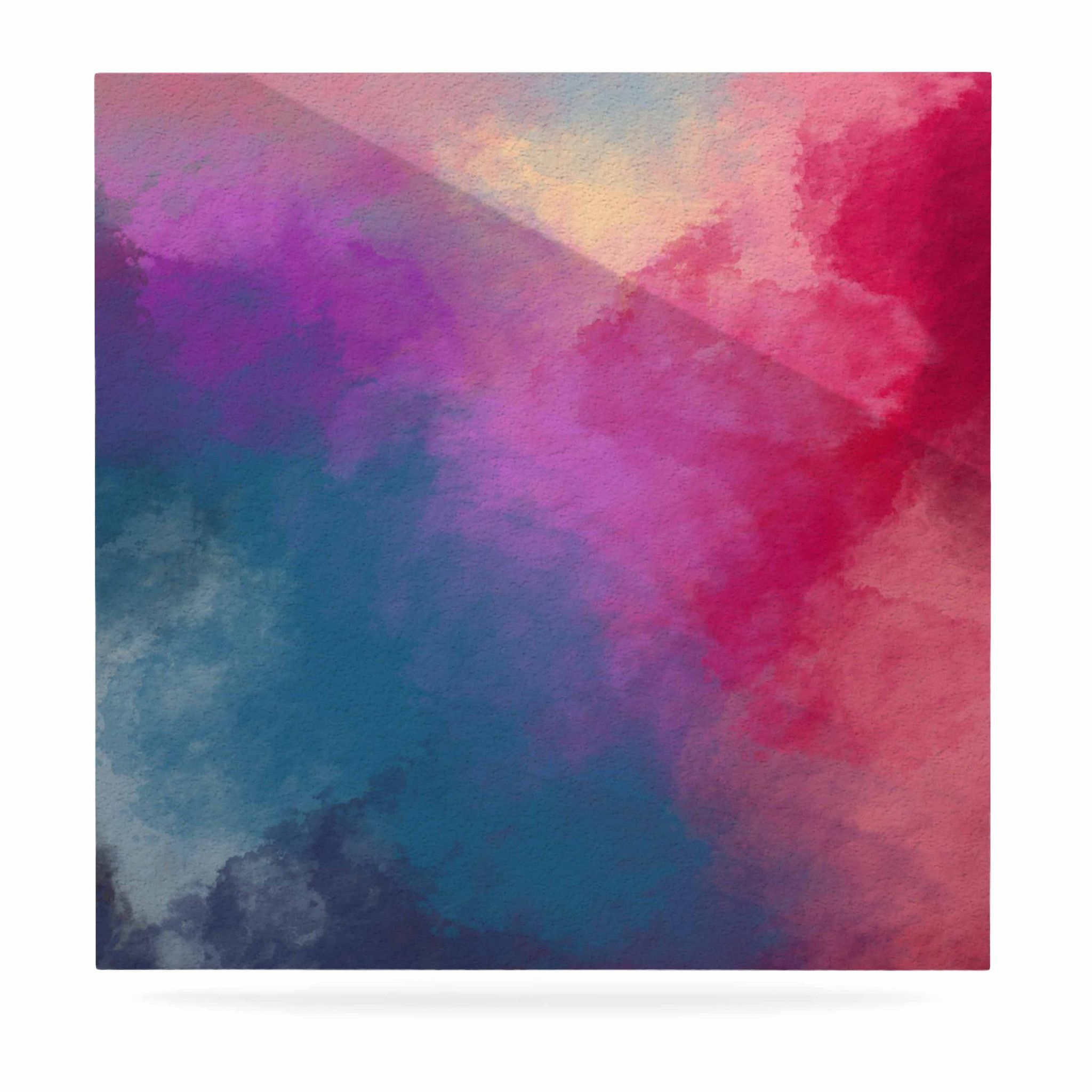 "Viviana Gonzalez ""ABSTRACT 01"" Pink Blue Luxe Square Panel"