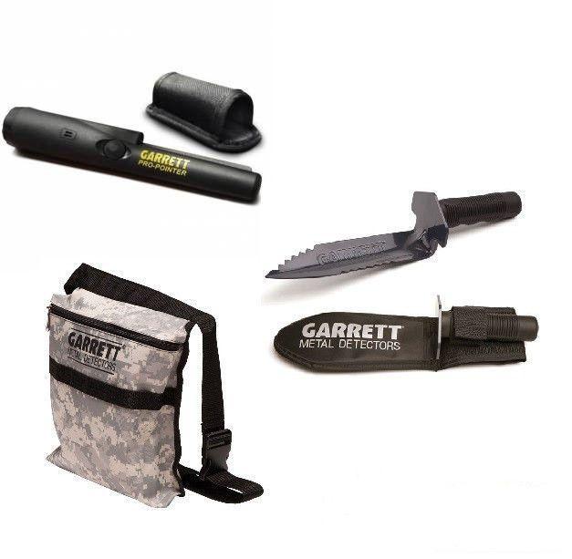Garrett Pro-pointer Metal Detector -Treasure Pouch - Edge Digger - Pinpointer #Garrett