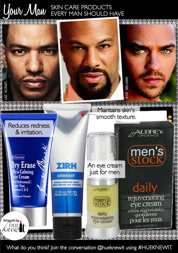 Keep your man's face moisturized with face cream for men from Aubrey  Organics Men, Jack Black, & Zirh.